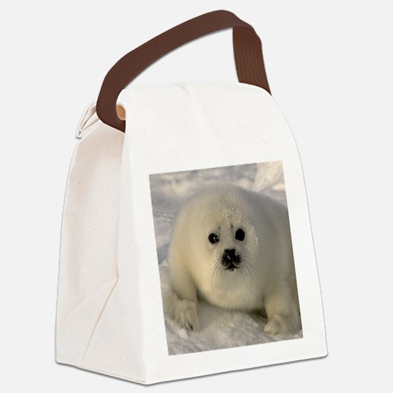 Baby Seal Canvas Lunch Bag
