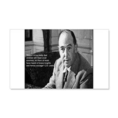 CS Lewis & Bravery Quote Wall Decal