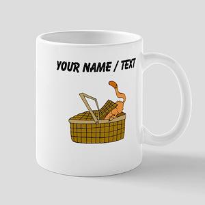 Custom Cat In Picnic Basket Mugs