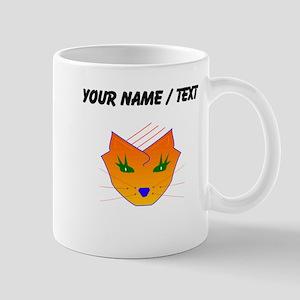 Custom Orange Cat Face Mugs