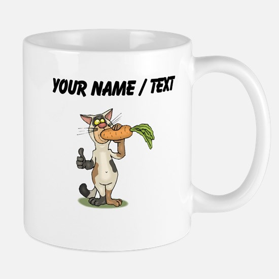 Custom Cat Eating Carrot Mugs