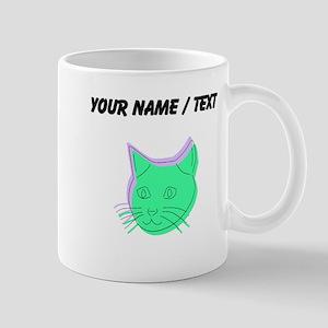 Custom Abstract Cat Mugs