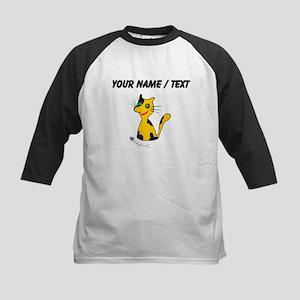 Custom Cat With Fish Bones Baseball Jersey