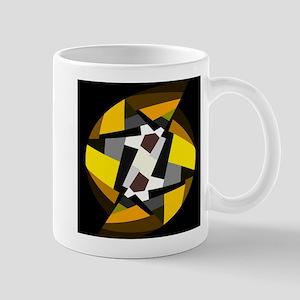 Black Colorful Pattern, Gold, Gray Mugs