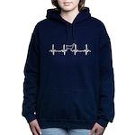 Goat Heartbeat of Love Women's Hooded Sweatshirt