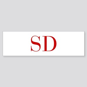 SD-bod red2 Bumper Sticker