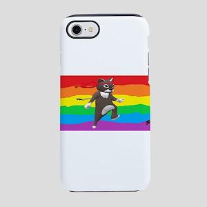 GAY RAINBOW NINJA CAT ART iPhone 7 Tough Case