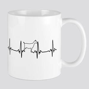 Goat Heartbeat of Love Mugs