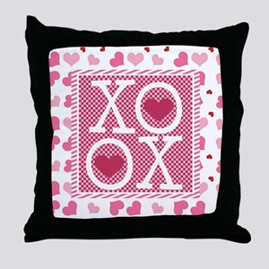 Valentine Sweet Hearts or XOXO with S Throw Pillow
