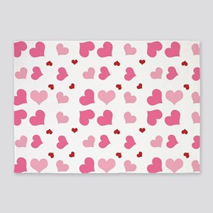 Valentine Sweet Hearts or XOXO with 5'x7'Area Rug