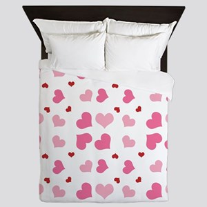 Valentine Sweet Hearts or XOXO with Sw Queen Duvet