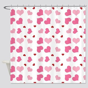 Valentine Sweet Hearts or XOXO with Shower Curtain