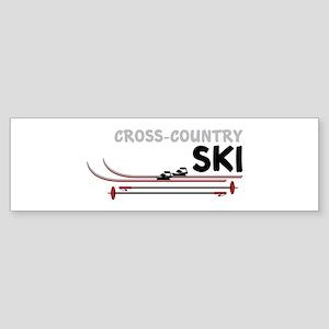 Cross Country Ski Bumper Sticker