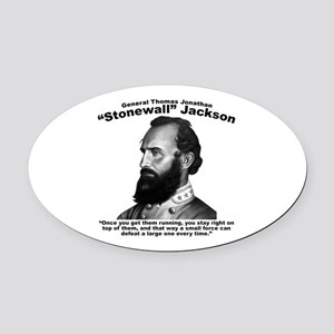 Stonewall: Offensive Oval Car Magnet