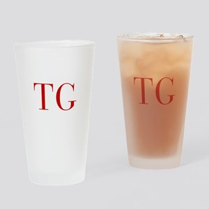 TG-bod red2 Drinking Glass