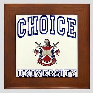 CHOICE University Framed Tile