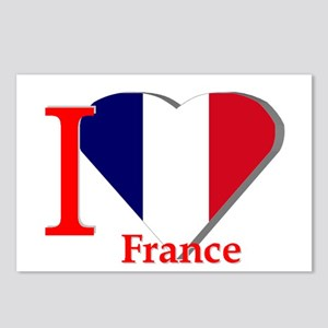 I love France Postcards (Package of 8)