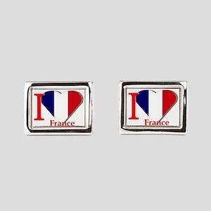 I love France Rectangular Cufflinks