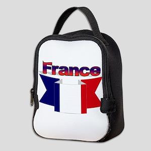 French flag ribbon Neoprene Lunch Bag