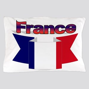 French flag ribbon Pillow Case