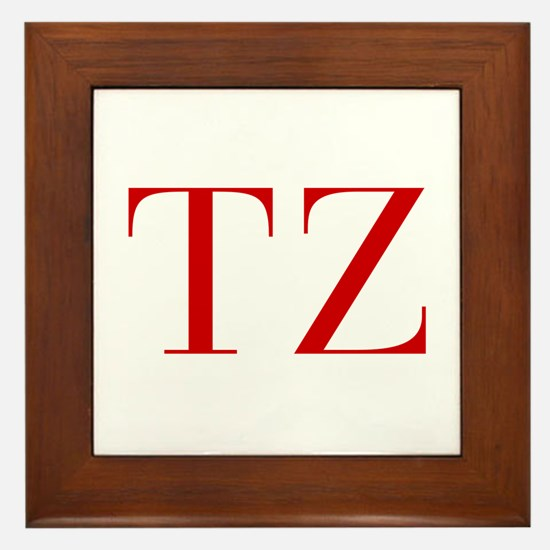 TZ-bod red2 Framed Tile