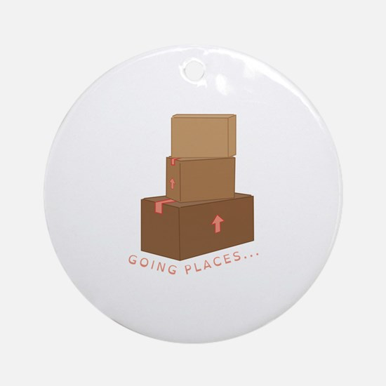 going Places Ornament (Round)