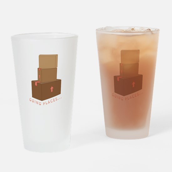 going Places Drinking Glass