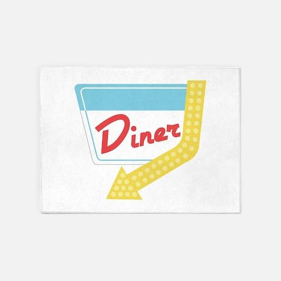 Diner Halt 5'x7'Area Rug