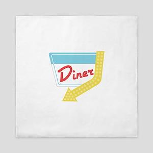Diner Halt Queen Duvet