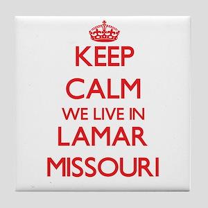 Keep calm we live in Lamar Missouri Tile Coaster