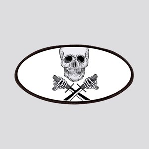 Skull With Knives Patches