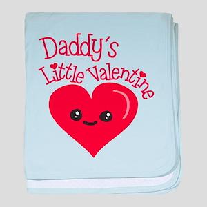 Daddy's Little Valentine baby blanket