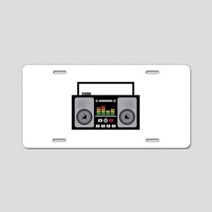 Boombox Aluminum License Plate