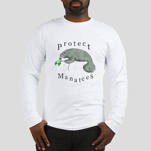 Protect Manatees Long Sleeve T-Shirt