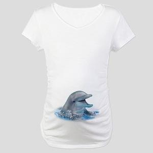 Happy Dolphin Maternity T-Shirt