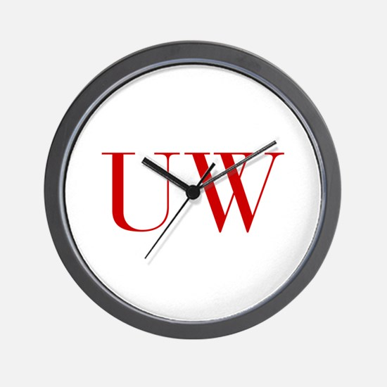 UW-bod red2 Wall Clock