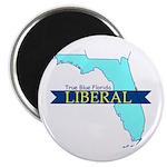 "2.25"" Magnet (10 pack) True Blue Florida LIBERAL"