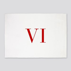 VI-bod red2 5'x7'Area Rug