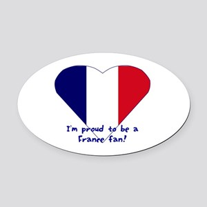 France fan Oval Car Magnet