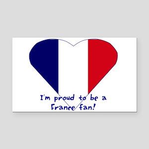 France fan Rectangle Car Magnet