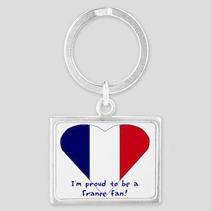 France fan Landscape Keychain