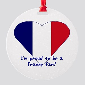 France fan Round Ornament