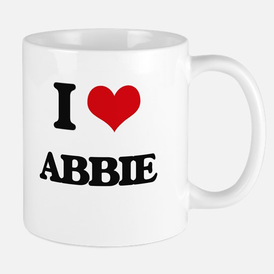 I Love Abbie Mugs