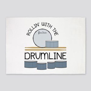 Rollin' With Drumline 5'x7'Area Rug