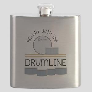 Rollin' With Drumline Flask