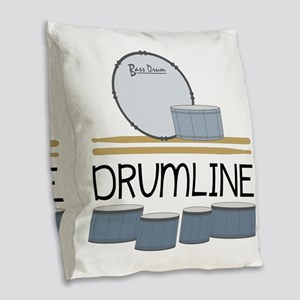 Drumline Burlap Throw Pillow