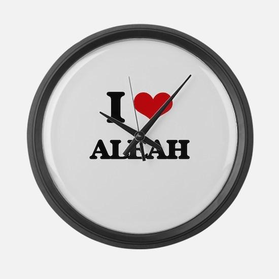 I Love Aleah Large Wall Clock