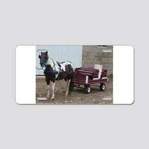 horse and carriage Aluminum License Plate