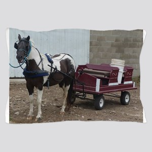 horse and carriage Pillow Case