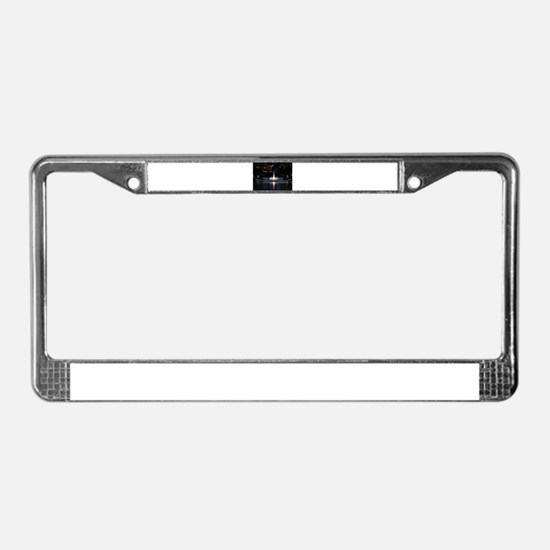 fountain in pittsburgh License Plate Frame
